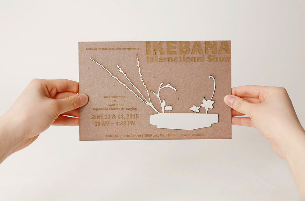 Ikebana International Show Invitation